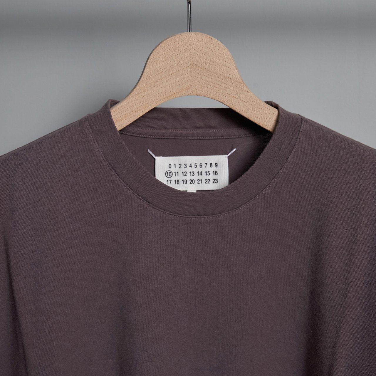 Maison Margiela PARIS <BR> COTTON  T - SHIRT <BR>パープルグレー