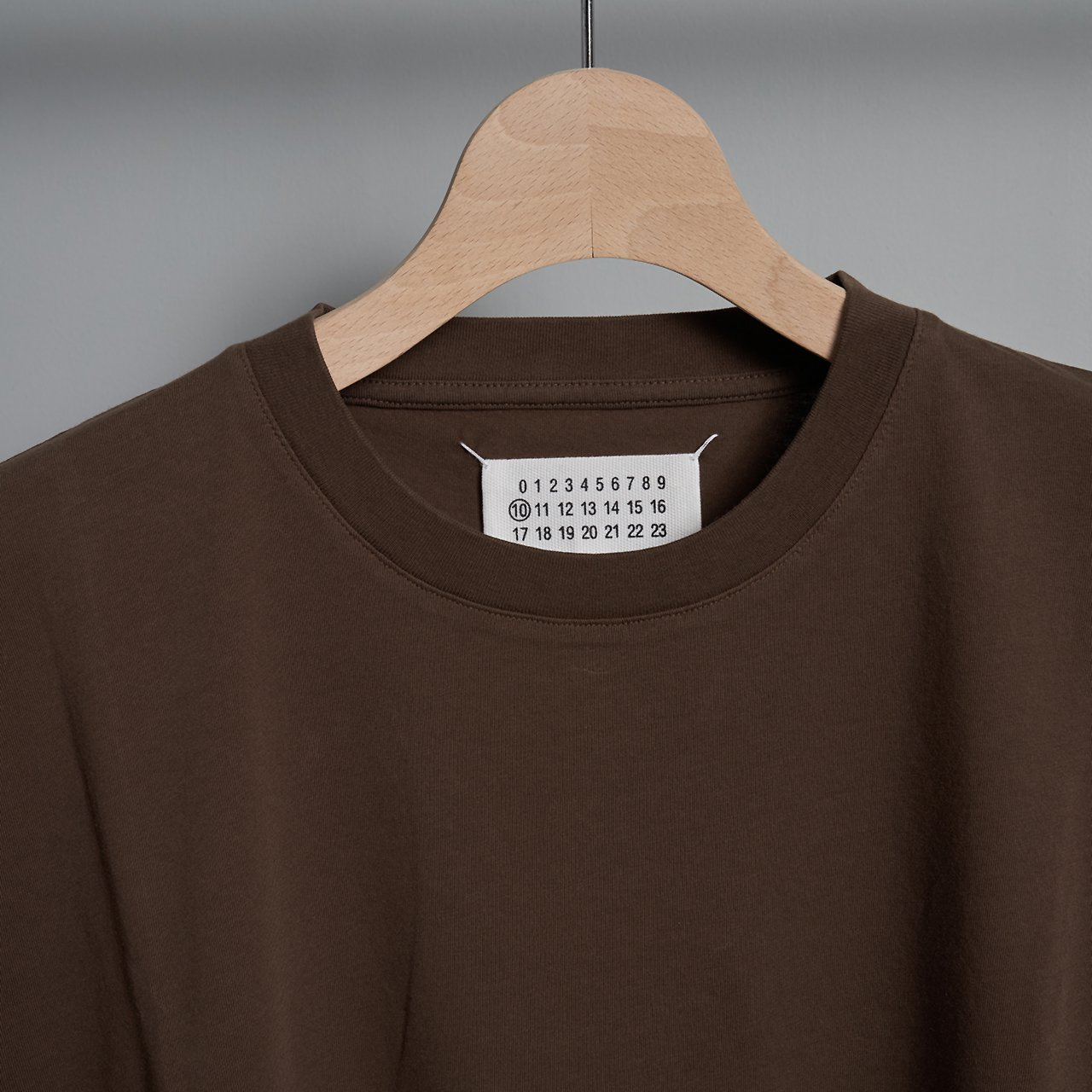 Maison Margiela PARIS <BR> COTTON  T - SHIRT <BR>ダークブラウン