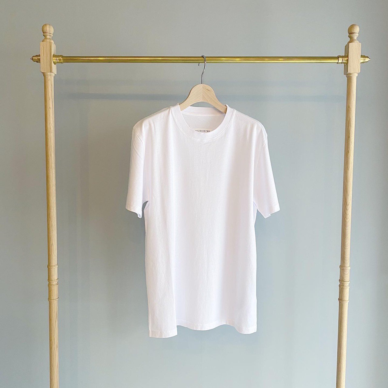 Maison Margiela PARIS <BR>COTTON  T - SHIRT<BR>ホワイト