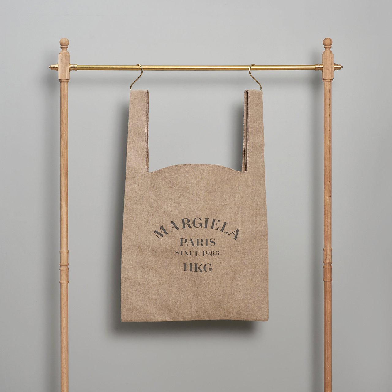 Maison Margiela PARIS <BR>linen shopping bag<BR>XL size