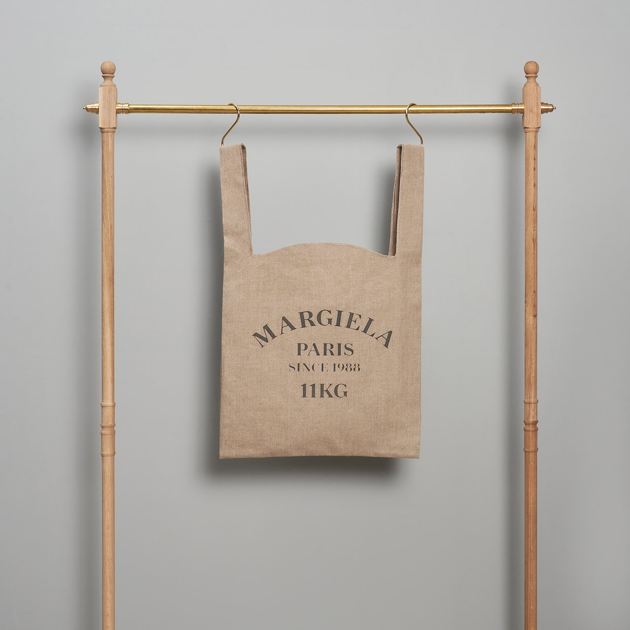 Maison Margiela PARIS <BR> linen shopping bag<BR>L size