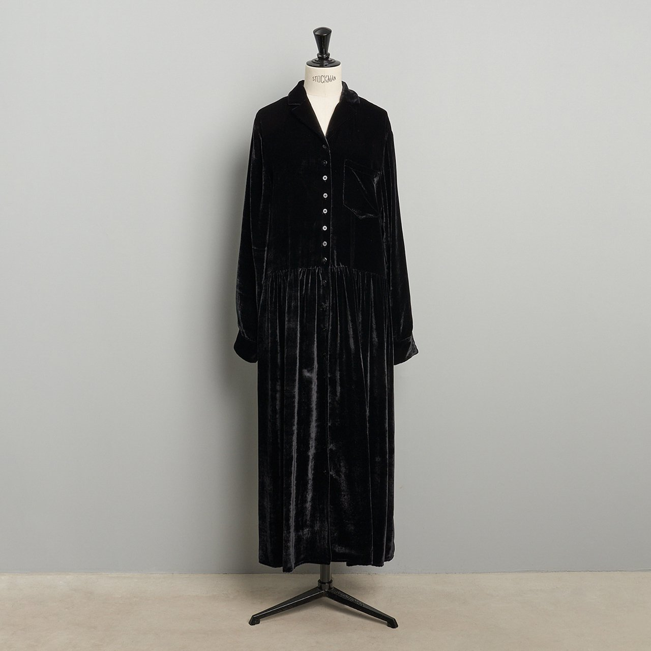MM6 Maison Margiela PARIS <BR> ベロアドレス<BR>BLACK