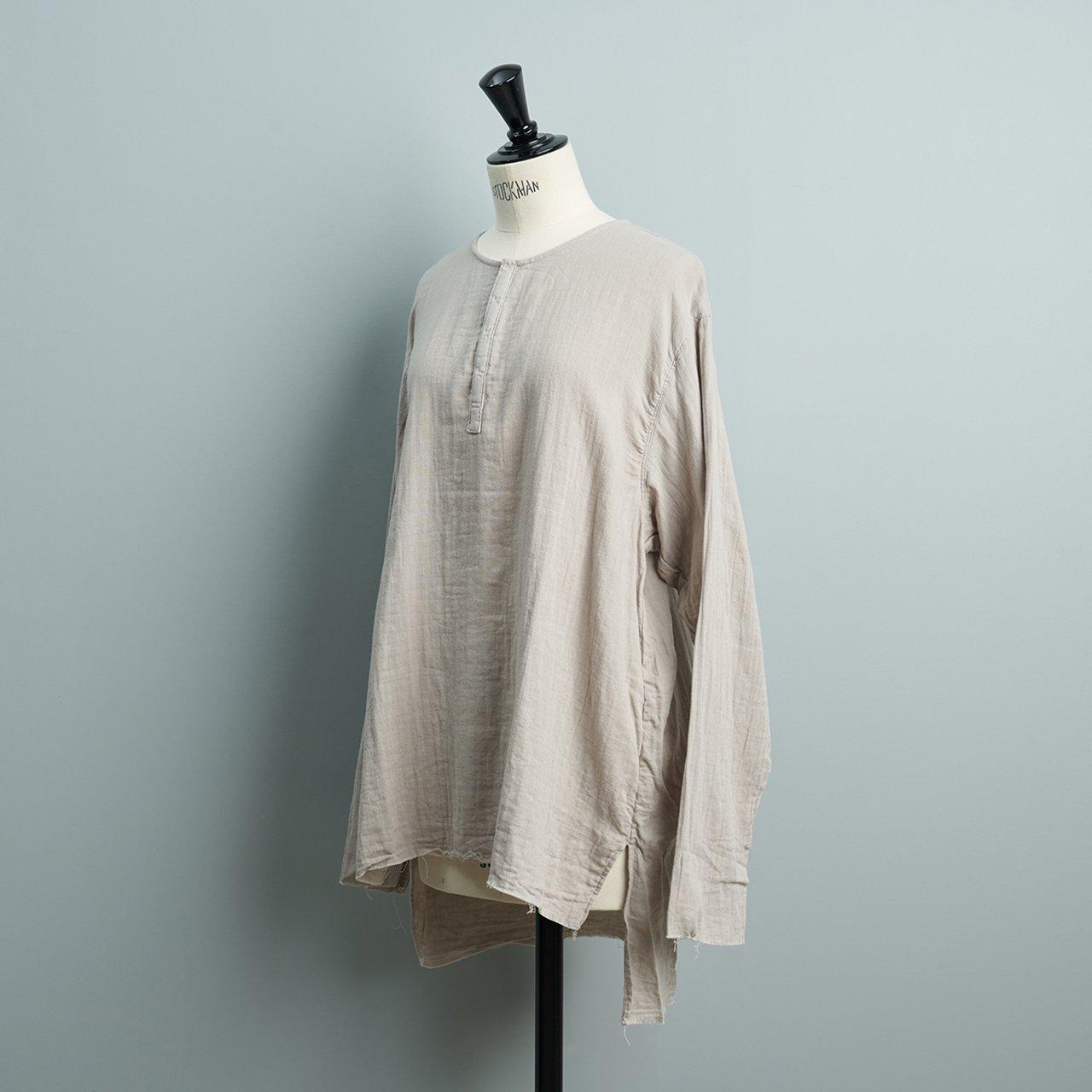 suzuki takayuki <BR>gauze shirt<BR>grey
