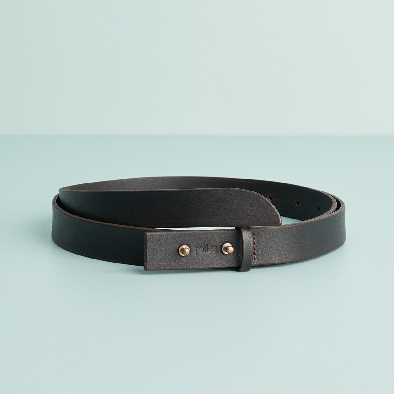 pelleq<BR>belt<BR>deep brown