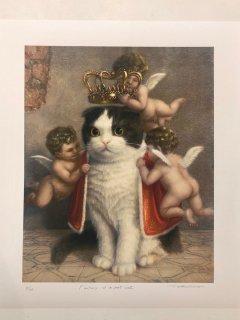 川井徳寛版画「飼い猫の幻視」