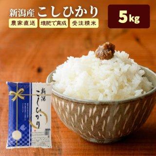 【通常便】新潟県産コシヒカリ「越後の里」5Kg