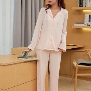 出産準備におすすめ シンプルで使いやすい長袖のゆったりパジャマ セットアップ 4色