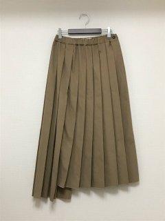T.yamai paris ヴィンテージツイルタックプリーツスカート