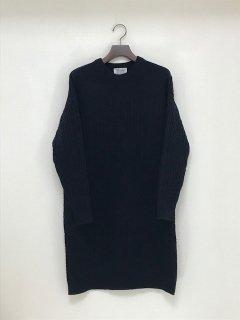 Maika イタリア糸ウールカシミヤパッチワークケーブルニットドレス