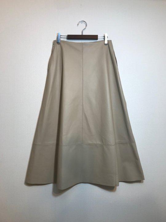 AOYAMA LEATHER(アオヤマレザー) シープスキンフレアスカート