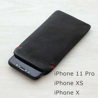 iPhone XS・iPhone X(5.8インチ) 本牛革レザースリーブケース
