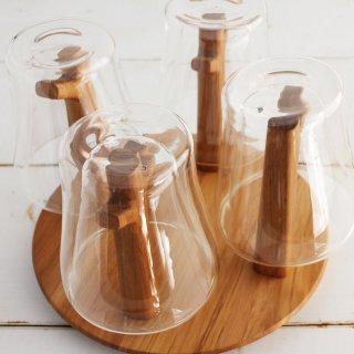 CHABATREE (チャバツリー) FOREST グラススタンド&耐熱ダブルウォールグラス ST175