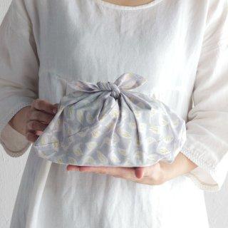 SUVALNA あづま袋(東袋)Sサイズ 木版染め(ブロックプリント) スワン×グレー