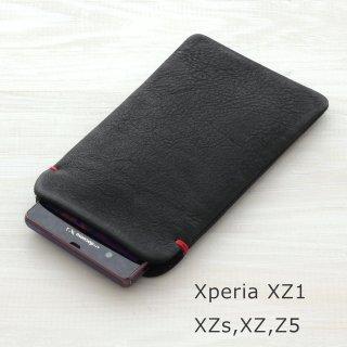 Xperia XZ2 / HUAWEI P20 lite / Galaxy S9 / AQUOS sense2 / Z5本牛革レザースリーブケース