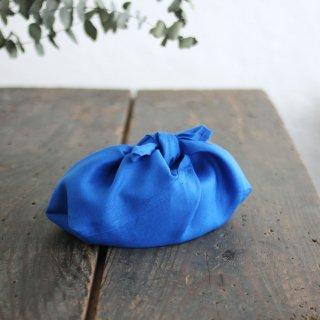 リネンのあづま袋 S  お弁当包みに。 ロイヤルブルー