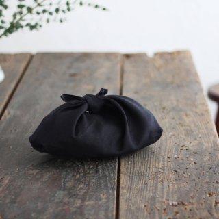 リネンのあづま袋 S  お弁当包みに。 ブラック