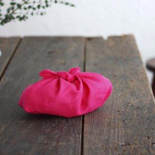 リネンのあづま袋 S  お弁当包みに。 ピンク