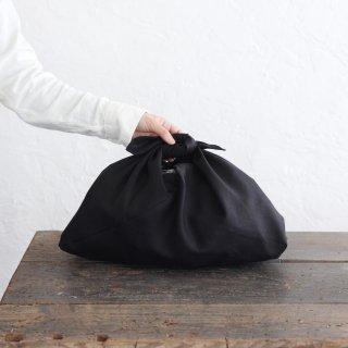 リネンのあづま袋 M 50cm ブラック