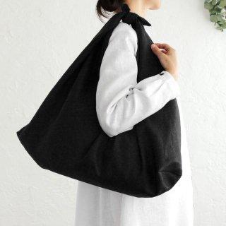 リネンのあづま袋 L  ブラック