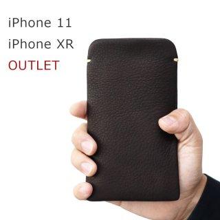 【アウトレット】iPhone 11/iPhone XR(6.1インチ) 本牛革レザースリーブケース