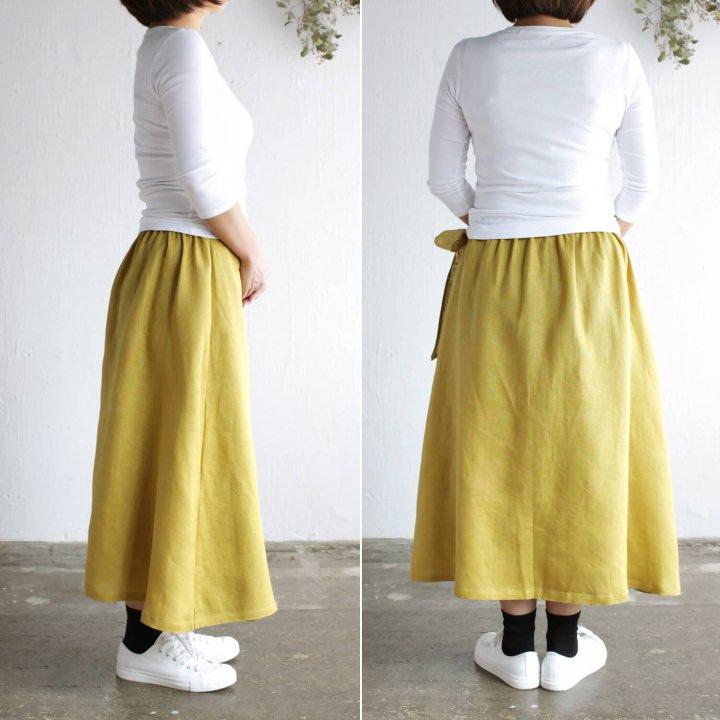 リネン ラップスカート
