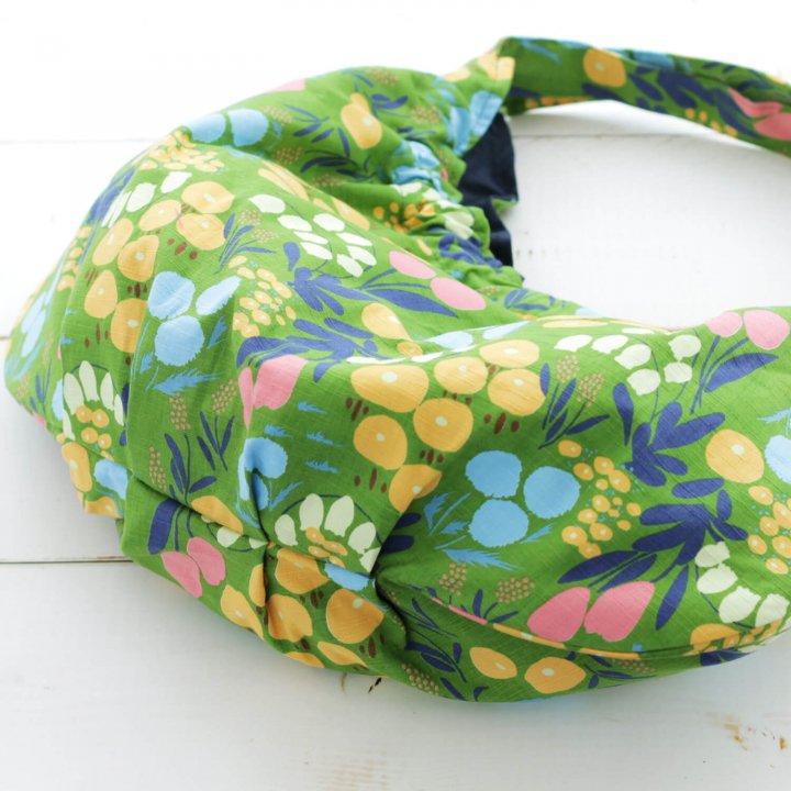 春色コットン ショルダーバッグ ブルーム (グリーン)