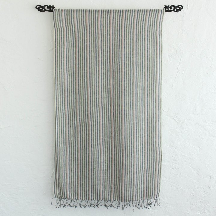 手織り ヘンプコットン 草木染め ストール