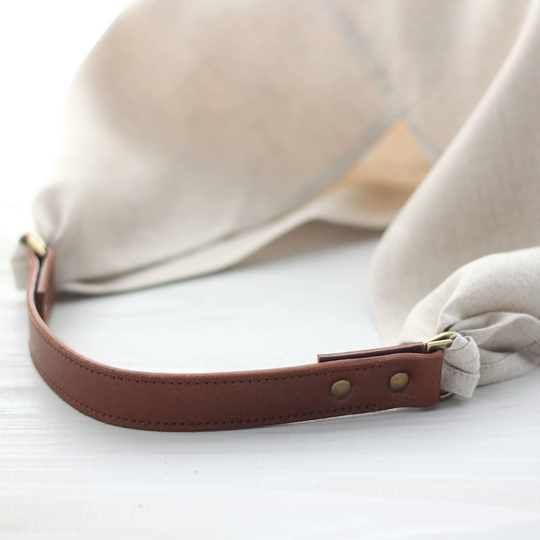 あづま袋 風呂敷バッグ 専用 本牛革ハンドル