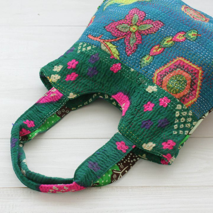 インド刺し子コットンショルダーバッグ