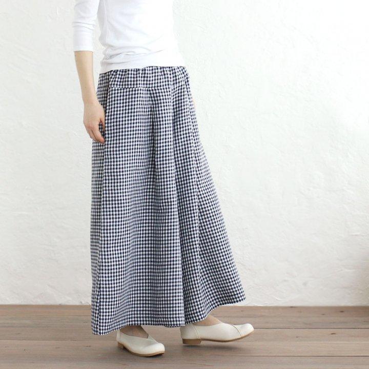 リネン ワイドパンツ ロング丈スカーチョ