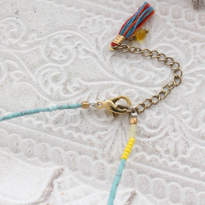 天然石ビーズのネックレス