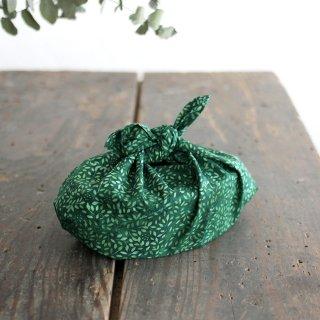 alinのあづま袋 S お弁当包み バティックあずま袋 マチ付き (野草/ダークグリーン)