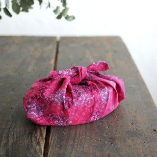 alinのあづま袋 S お弁当包み バティックあずま袋 マチ付き (花/ピンク)