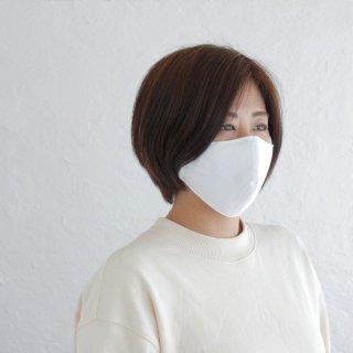 コットン立体マスク 男女兼用 3重構造 ポケット付き 天然素材 綿 (ホワイト)