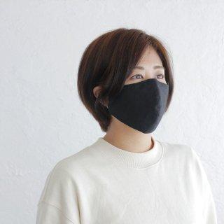 コットン立体マスク 男女兼用 3重構造 ポケット付き 天然素材 綿 (ブラック)