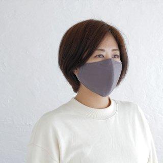 コットン立体マスク 男女兼用 3重構造 ポケット付き 天然素材 綿 (ローズグレー)