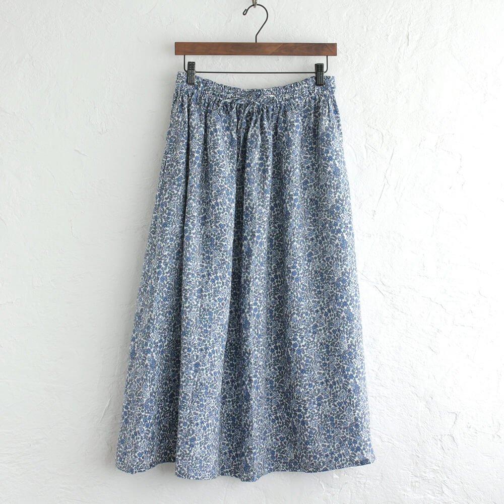 リネン ギャザースカート