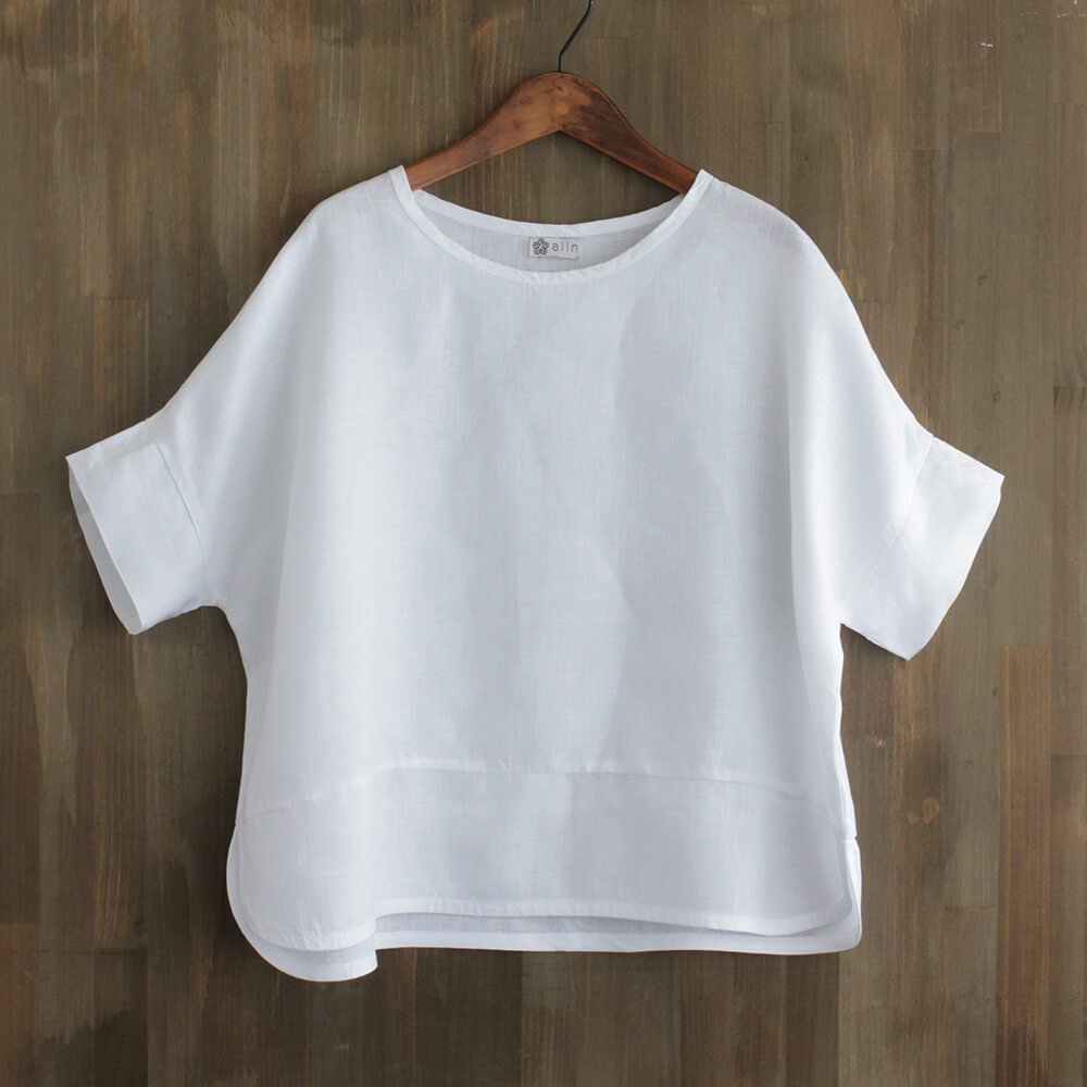 ヘンプ麻100% プルオーバー ワイドTシャツ