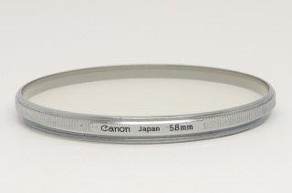 キャノン 58mm UV 1× 白枠 極上美品