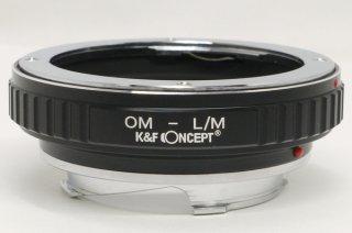 ライカMマウントカメラにオリンパスOMレンズを付けるアダプター 新品同様