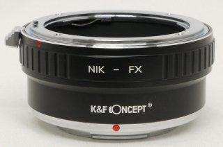 K&F CONCEPT NIK-FX(フジXマウントカメラにニコンFマウントレンズを付けるアダプター) 極上美品