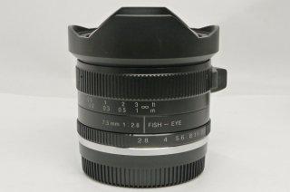 フジフイルムXマウント 七工匠 7Artisans 75FXB2 7.5mm F2.8 Fish-eye2 元箱付 新品同様
