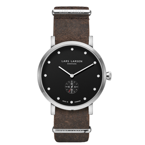 【Special Price】OUTLET Christopher(LW32) Steel with Brown Zulu strap / Black dial<img class='new_mark_img2' src='https://img.shop-pro.jp/img/new/icons20.gif' style='border:none;display:inline;margin:0px;padding:0px;width:auto;' />