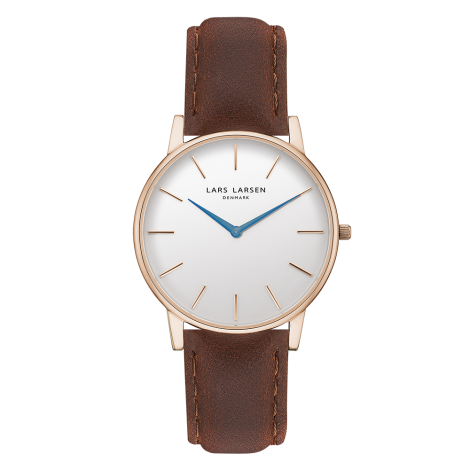 Oliver(LW47) Rose gold with Brown strap / Blue hands<img class='new_mark_img2' src='https://img.shop-pro.jp/img/new/icons34.gif' style='border:none;display:inline;margin:0px;padding:0px;width:auto;' />