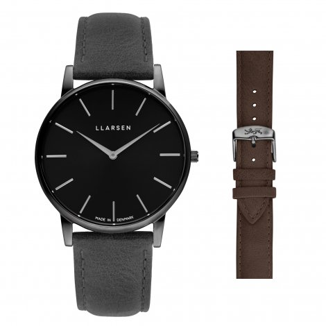 OLIVER (LW47) Oxidized steel with 2 straps package (Grey / Wood)