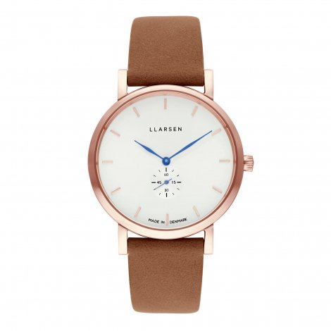 2019AWコレクション JOSEPHINE (LW44) Rose gold with Camel leather strap / Blue hands