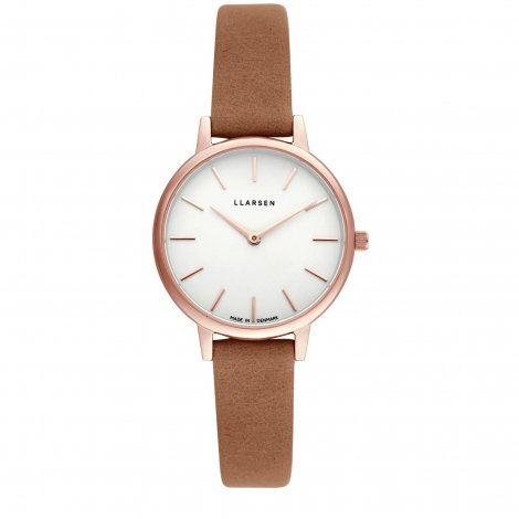2019AWコレクション CAROLINE (LW46) Rose gold with Camel leather strap