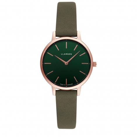 WEB限定モデル  CAROLINE (LW46) Rose gold with Forest leather strap / Forest dial