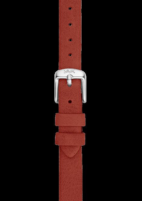 Orange leather strap 12mm