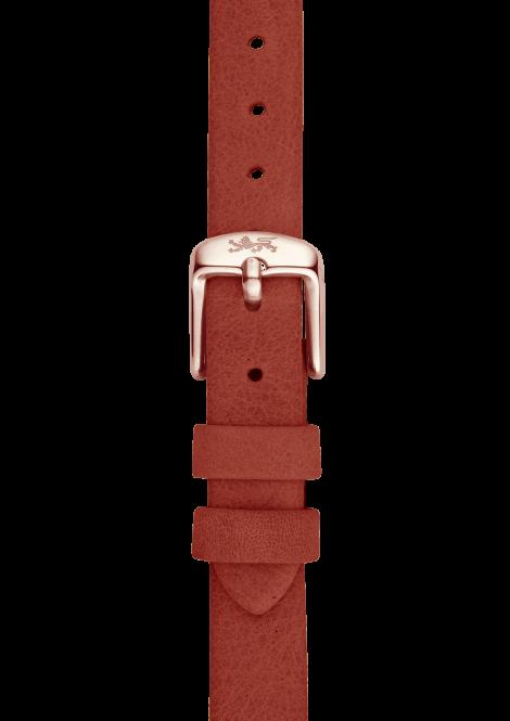 Orange leather strap 18mm